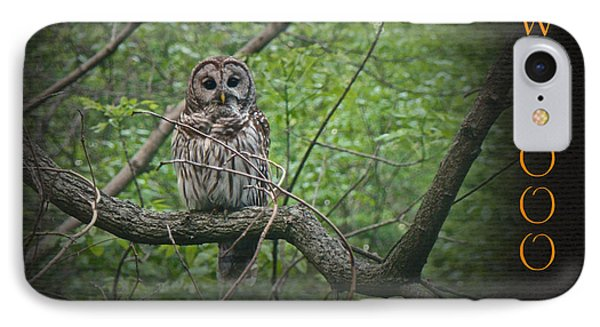 Whoooo Wishes  You A Happy Halloween - Greeting Card - Owl Phone Case by Mother Nature