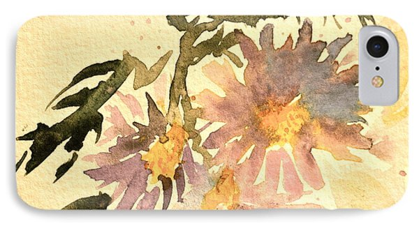 Wild Asters Aged Look Phone Case by Beverley Harper Tinsley