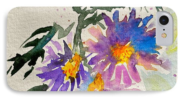 Wild Asters Phone Case by Beverley Harper Tinsley