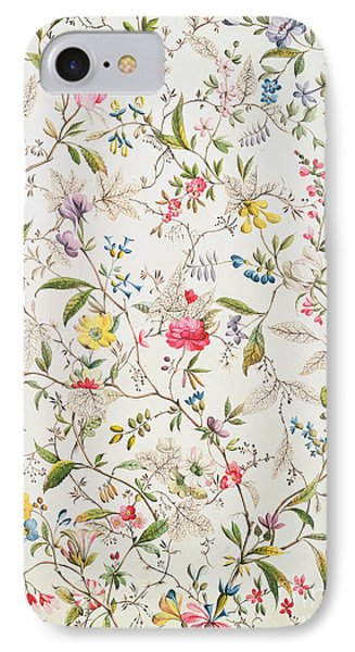 Wild Flowers Design For Silk Material IPhone Case