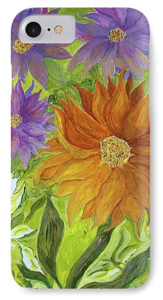 IPhone Case featuring the painting Wild Flowers by Joy Braverman