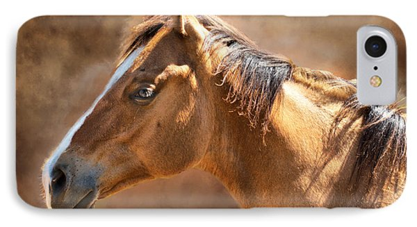 IPhone Case featuring the digital art Wild Mustang by Mary Almond