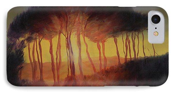 Wild Trees At Sunset Phone Case by Antonia Myatt