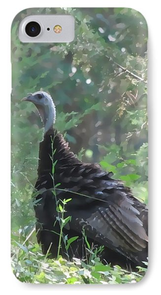 IPhone Case featuring the digital art Wild Turkey 6380 3x4 by Maciek Froncisz