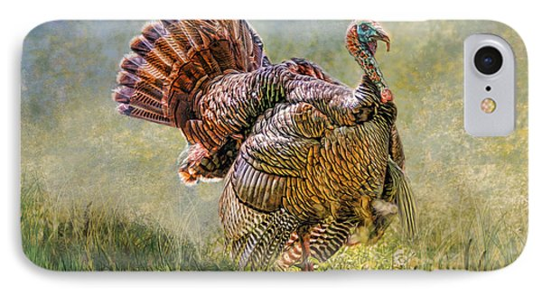 IPhone Case featuring the digital art Wild Turkey by Mary Almond