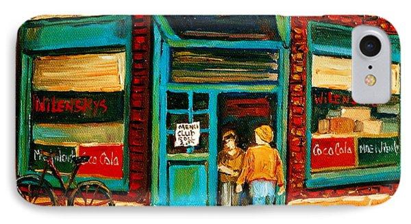 Wilensky's Restaurant Phone Case by Carole Spandau