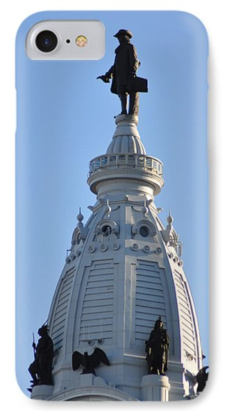 William Penn - On Top Of City Hall Phone Case by Bill Cannon