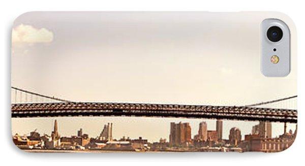 Williamsburg Bridge And The New York City Skyline Panorama Phone Case by Vivienne Gucwa