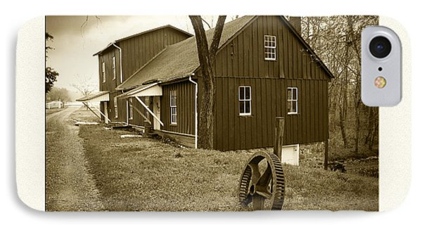 Williston Mill - Sepia Phone Case by Brian Wallace