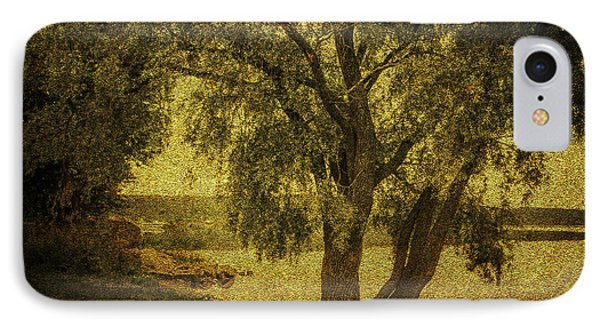 Willow At The Lake. Golden Green Series IPhone Case