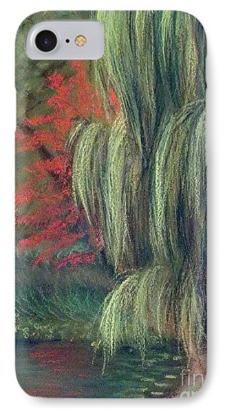 IPhone Case featuring the drawing Willow Tree - Hidden Lake Gardens -tipton Michigan by Yoshiko Mishina
