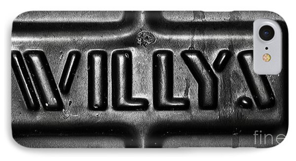 Willys Emblem Phone Case by Juls Adams