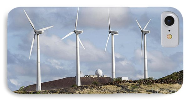 Wind Turbines At The Ascension Phone Case by Stocktrek Images