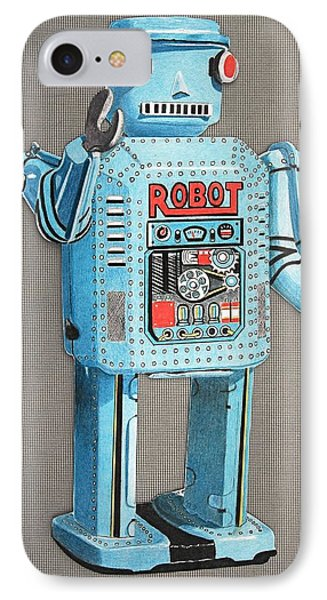 Wind-up Robot 2 IPhone Case