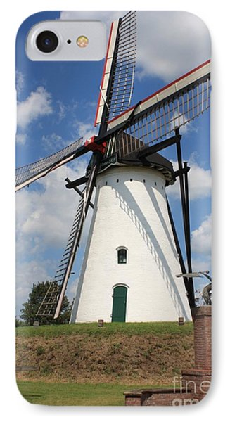 Windmill And Blue Sky Phone Case by Carol Groenen