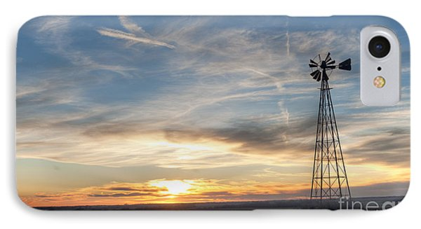IPhone Case featuring the photograph Windmill And Sunset by Art Whitton