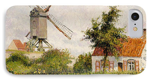 Windmill At Knokke Phone Case by Camille Pissarro