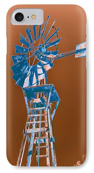 Windmill Blue Phone Case by Rebecca Margraf