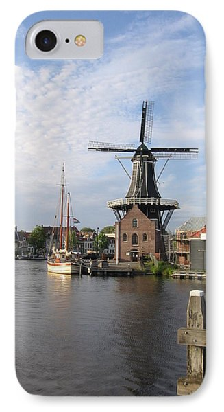 IPhone Case featuring the photograph Windmill In The Nederlands by Karen Molenaar Terrell