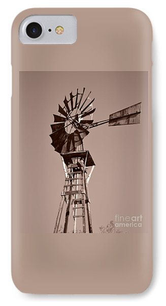 Windmill Sepia Phone Case by Rebecca Margraf