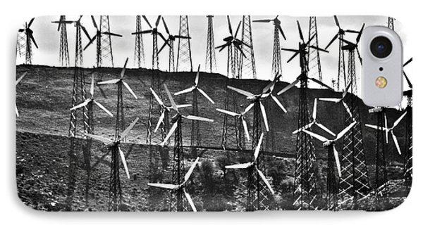 Windmills By Tehachapi  Phone Case by Susanne Van Hulst