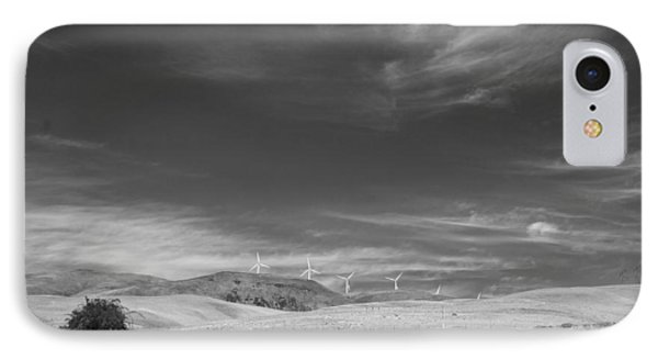 IPhone Case featuring the photograph Windmills In The Distant Hills by Kathleen Grace