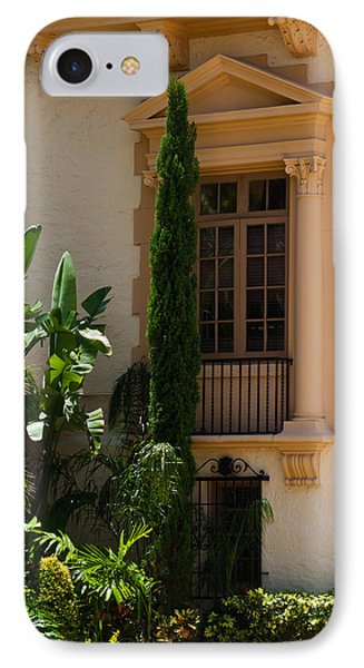 IPhone Case featuring the photograph Window At The Biltmore by Ed Gleichman