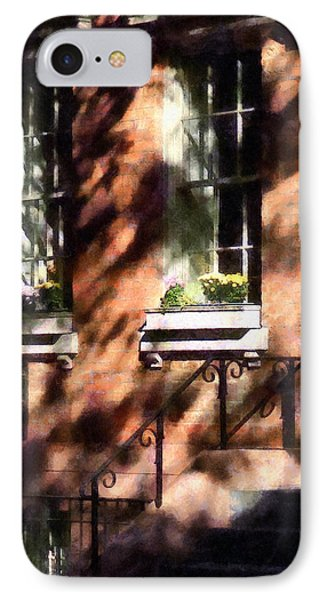 Window Boxes Greenwich Village Phone Case by Susan Savad
