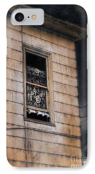 Window In Old House Stormy Sky IPhone Case by Jill Battaglia