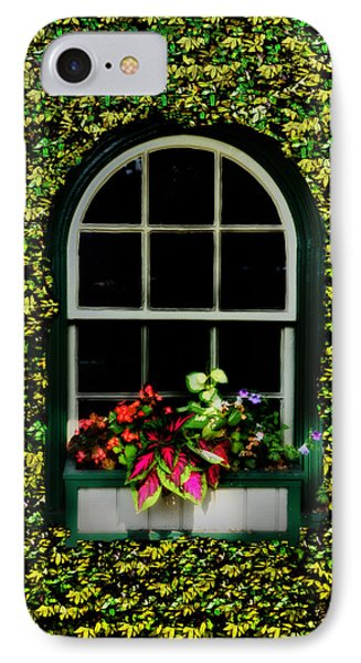 Window On An Ivy Covered Wall Phone Case by Bill Cannon