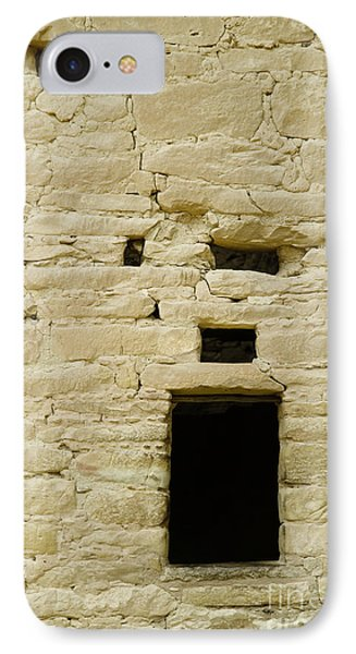 Window Opening In Old Brick Adobe Wall Phone Case by Ned Frisk