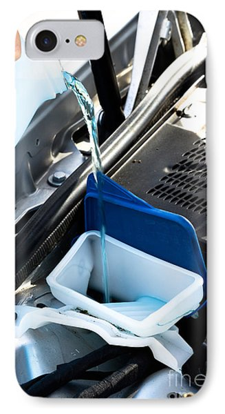 Windshield Cleaning Fluid Phone Case by Photo Researchers