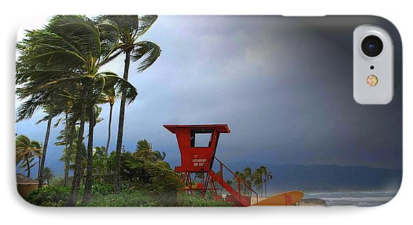 Windy Day In Haleiwa IPhone Case by Mark Gilman