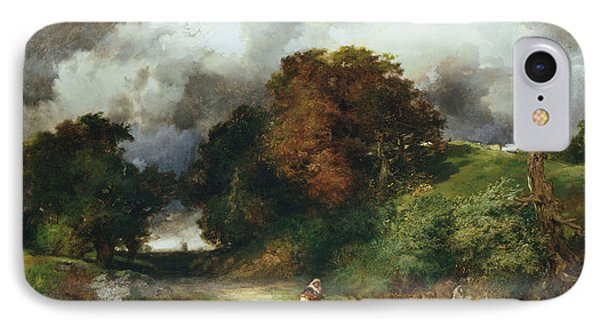 Windy Hilltop IPhone Case by Thomas Moran