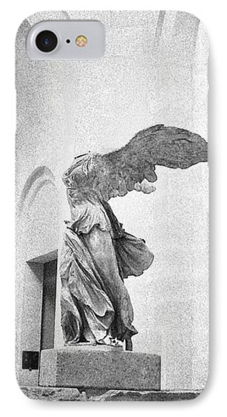 IPhone Case featuring the photograph Winged Victory Of Samothrace by Louis Nugent