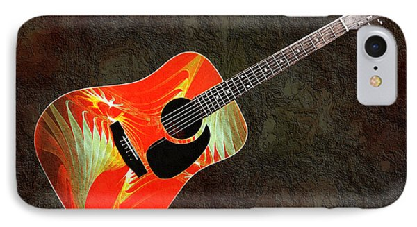 Wings Of Paradise Abstract Guitar IPhone Case by Andee Design
