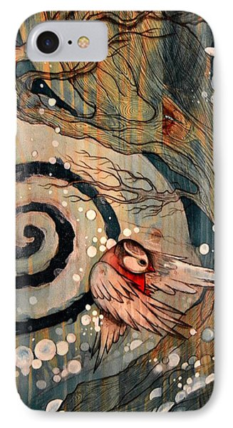 IPhone Case featuring the painting Winter Becoming by Sandro Ramani