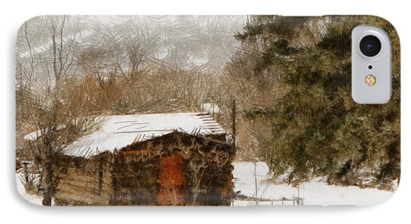 Winter Cabin 2 Phone Case by Ernie Echols