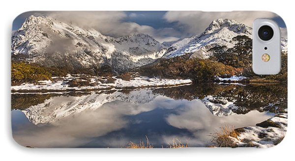 Winter Dawn Reflection Of Mount Phone Case by Colin Monteath