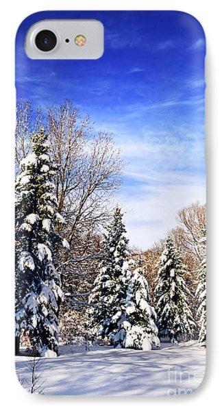Winter Forest Under Snow Phone Case by Elena Elisseeva