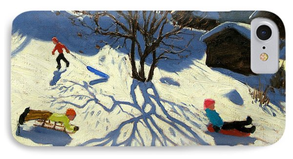 Winter Hillside Morzine France Phone Case by Andrew Macara