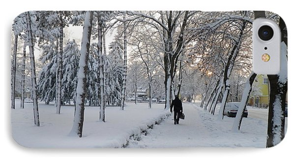 IPhone Case featuring the photograph Winter In Mako by Anna Ruzsan