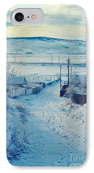Winter In Romanian Countryside IPhone Case