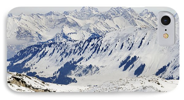 Winter In The Alps - Snow Covered Mountains Phone Case by Matthias Hauser