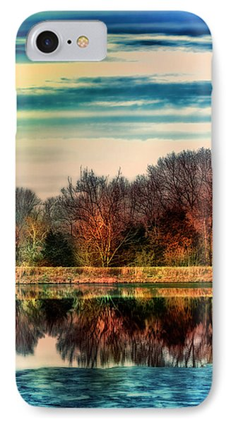 Winter Lake Fantasm Phone Case by Bill Tiepelman