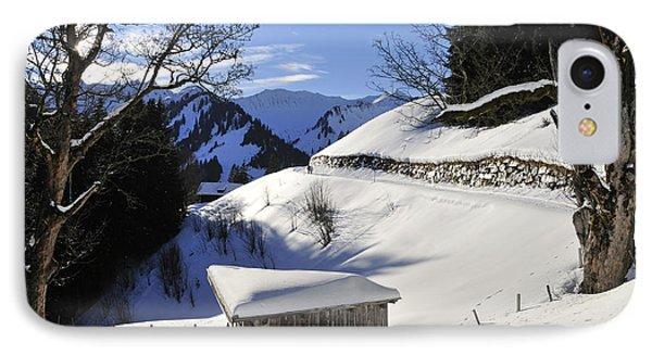 Winter Landscape Phone Case by Matthias Hauser