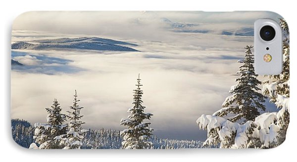 Winter Landscape With Clouds And Phone Case by Craig Tuttle