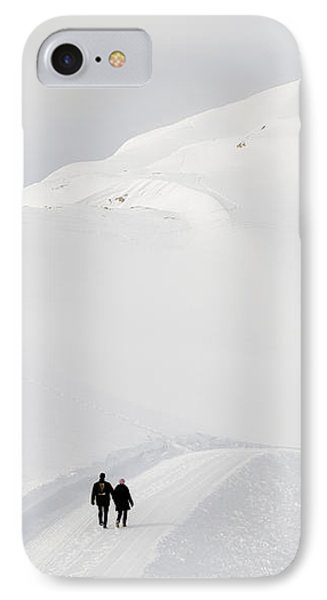 Winter Mountain Landscape With Lots Of Snow Phone Case by Matthias Hauser