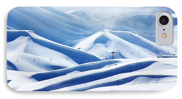 Winter Mountain Ski Resort Phone Case by Anna Om