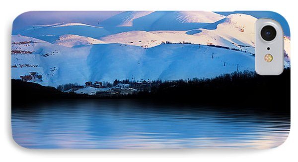 Winter Mountains And Lake Snowy Landscape Phone Case by Anna Om